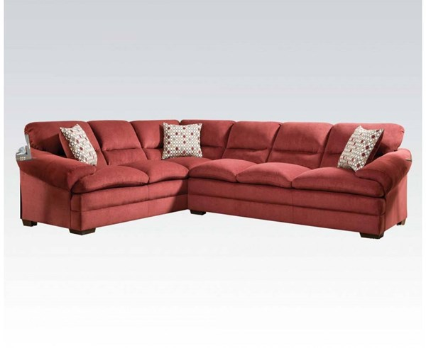 Roselyn Wood Fabric Tight Back & Seat Sectional Sofa ACM-52350