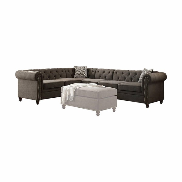 Acme Furniture Aurelia II Charcoal Sectional Sofa ACM-52375