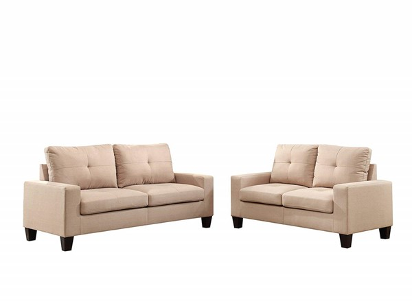 Acme Furniture Platinum II Beige 2pc Living Room Set ACM-52740