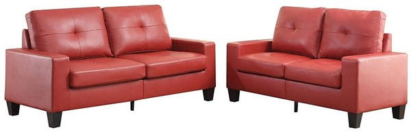 Acme Furniture Platinum II Red 2pc Living Room Set ACM-52745