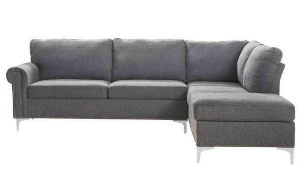 Acme Furniture Melvyn Gray Sectional Sofa ACM-52755