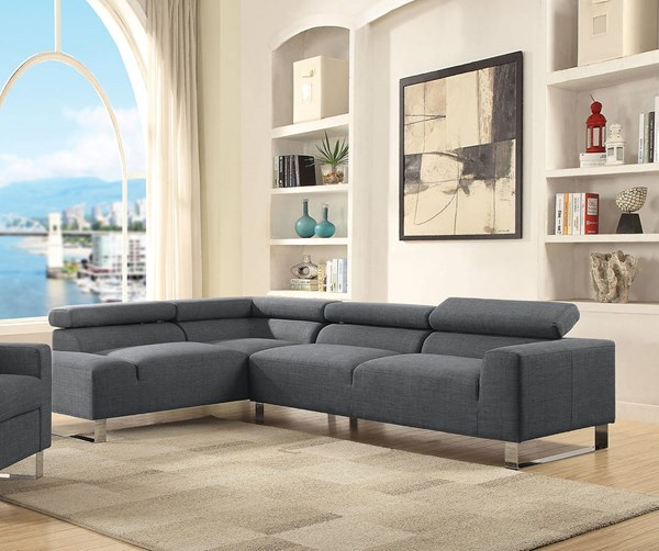 Acme Furniture Horace Gray Sectional Sofa ACM-52890
