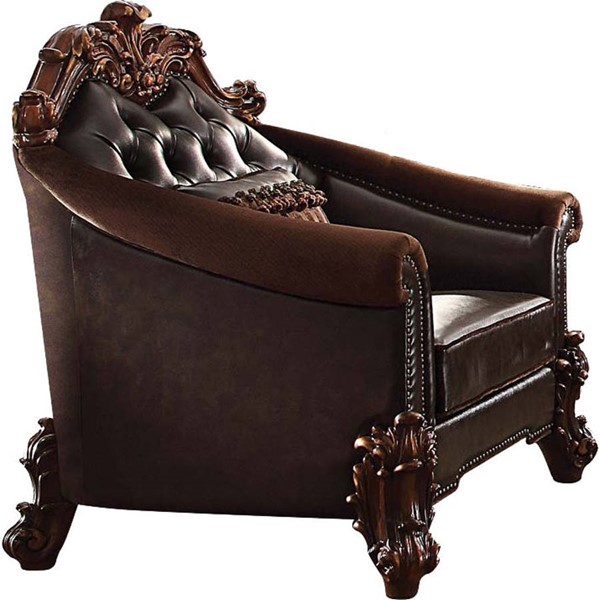 Acme Furniture Vendome II Dark Brown Chair with Pillow ACM-53132