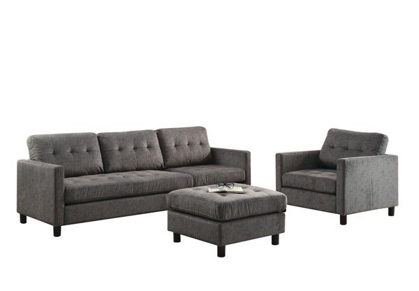 Acme Furniture Ceasar Gray Sectional Sofa ACM-53315
