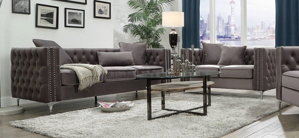 Acme Furniture Gillian II Dark Gray 2pc Living Room Set ACM-5338-LR-S2