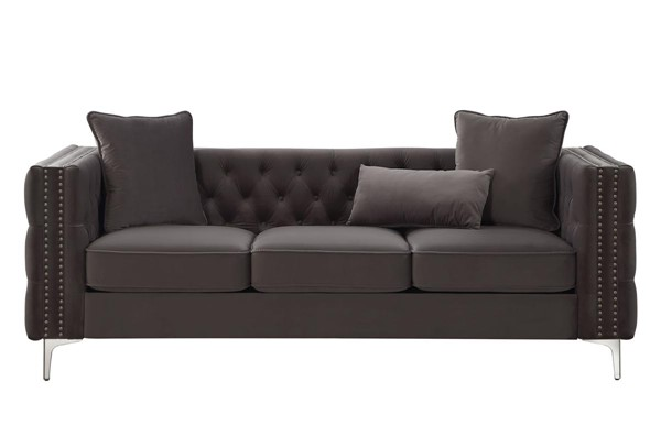 Acme Furniture Gillian II Dark Gray Three Pillows Sofa ACM-53385