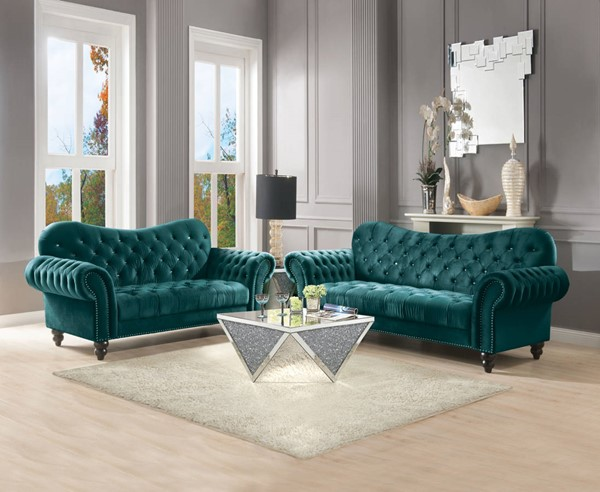Acme Furniture Iberis Green 2pc Living Room Set ACM-5340-LR-S1