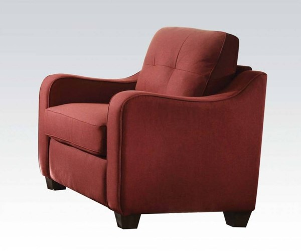 Cleavon II Modern Red Gray Fabric Wood Foam Chairs ACM-53-REC-VAR