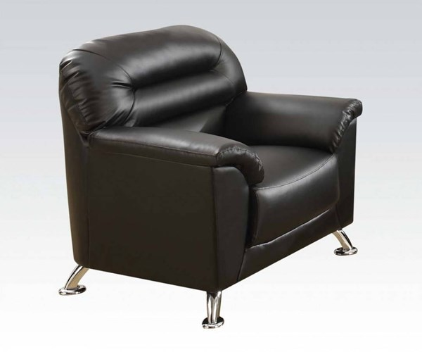 Sibba Modern Black PU Wood Foam Chair ACM-53577