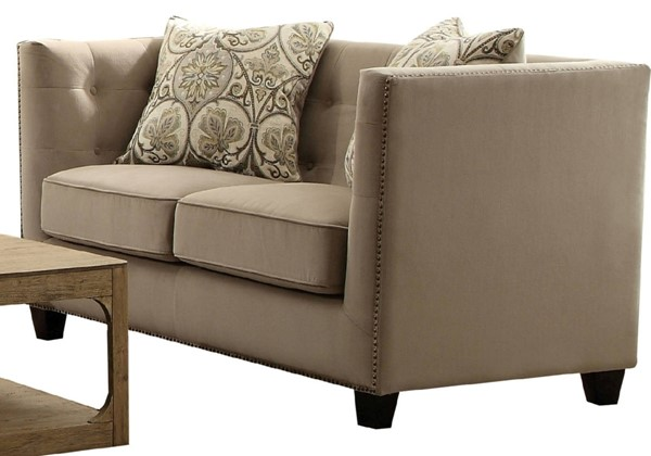 Acme Furniture Juliana Beige Loveseat with 2 Pillows ACM-53586