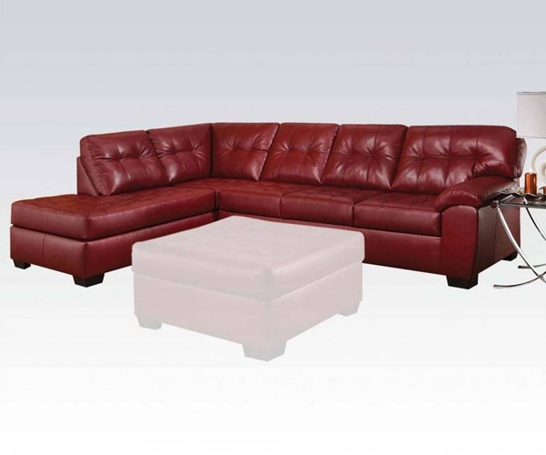 Shi Cardinal Leather-Aire Wood Foam LAF Sectional Sofa ACM-53620