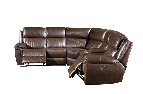 Acme Furniture Lonna Brown Power Motion Sectional ACM-53695