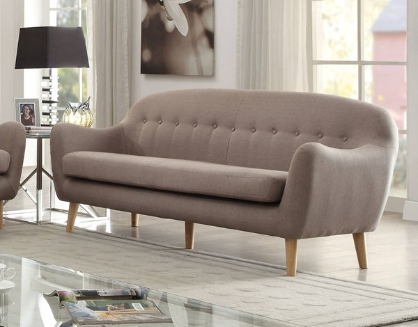 Jillian Gray Linen Fabric Foam Sofa ACM-53700