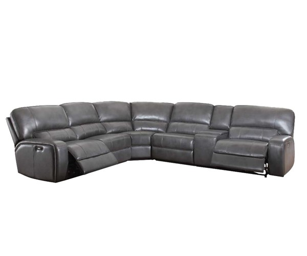 Acme Furniture Saul Gray Power Motion and USB Dock Sectional Sofa ACM-53745