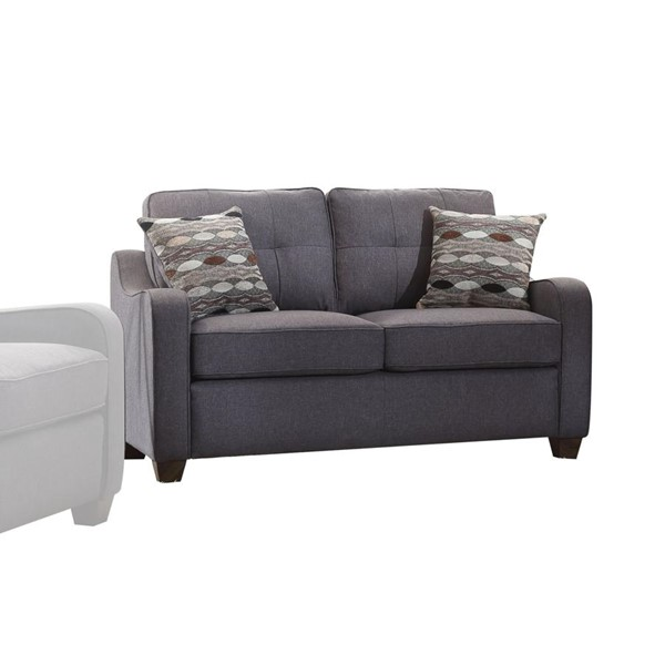 Acme Furniture Cleavon II Gray Loveseat with Two Pillows ACM-53791