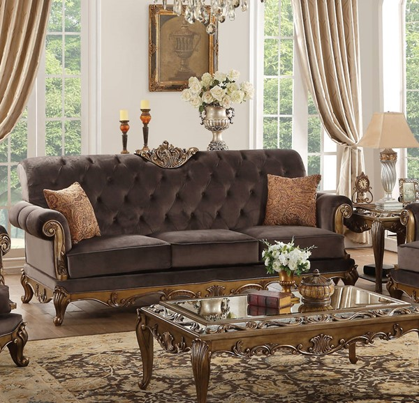Acme Furniture Orianne Charcoal Sofa with 2 Pillows ACM-53795