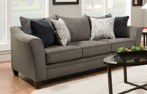 Albany Fabric Mixed Hardwood Sofa w/Pillows ACM-53840