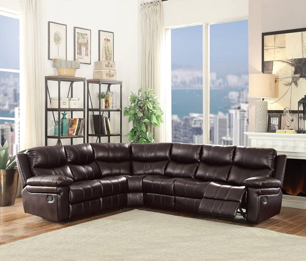 Acme Furniture Lavinia Espresso Motion Sectional Sofa ACM-53955