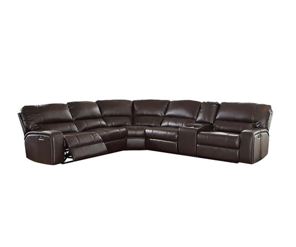 Acme Furniture Saul Espresso Power Motion and USB Dock Sectional Sofa ACM-54155