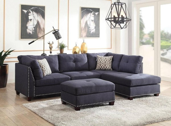 Acme Furniture Laurissa Sectionals with Ottoman ACM-543-SEC-VAR