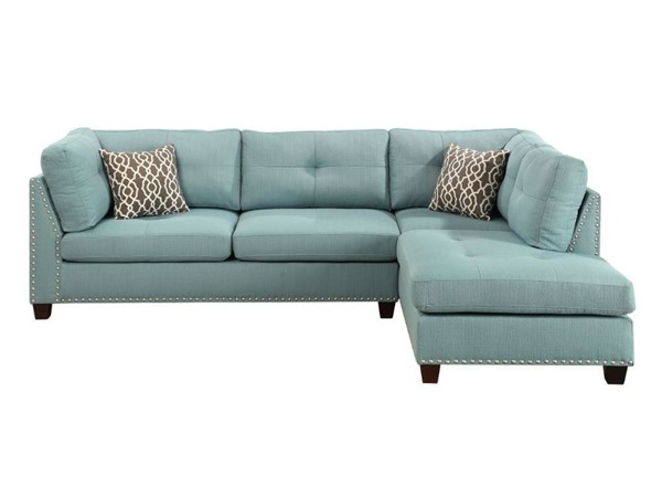 Acme Furniture Laurissa Sectional Sofa and Ottoman ACM-54390