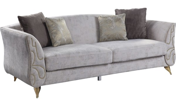 Acme Furniture Wilder Beige Sofa with 4 Pillows ACM-54430