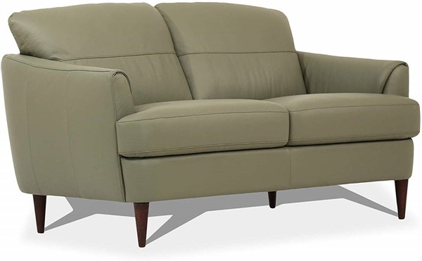 Acme Furniture Helena Moss Green Leather Loveseats ACM-5457-LS-VAR
