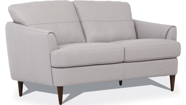 Acme Furniture Helena Pearl Gray Leather Loveseat ACM-54576
