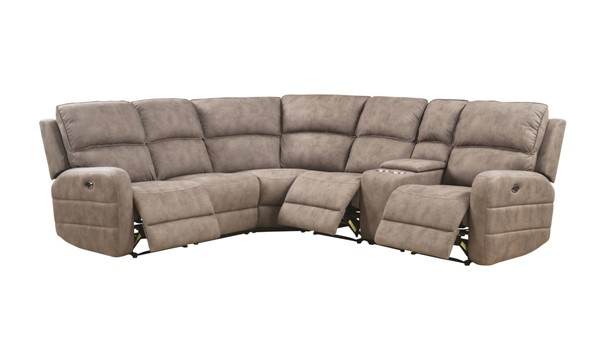Acme Furniture Olwen Mocha Sectional ACM-54590