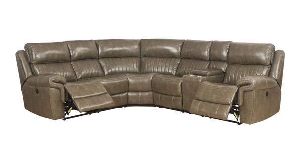 Acme Furniture Lonna Taupe Power Motion Sectional ACM-54600