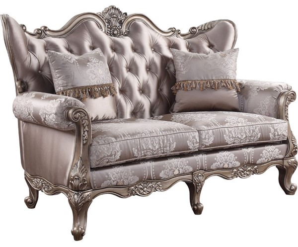 Acme Furniture Jayceon Champagne Loveseat with 2 Pillows ACM-54866