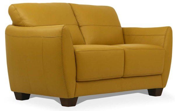 Acme Furniture Valeria Mustard Leather Loveseat ACM-54946