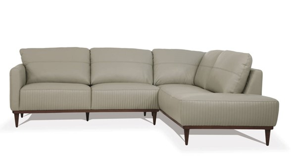 Acme Furniture Tampa Airy Green Leather Sectional with RAF Chaise ACM-54975