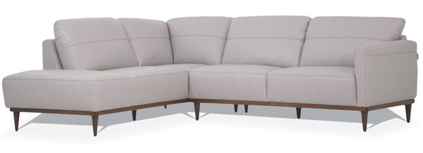 Acme Furniture Tampa Pearl Gray Leather Sectionals with LAF Chaise ACM-5499-SEC-VAR