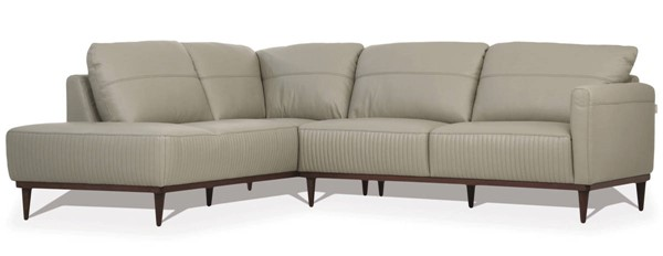 Acme Furniture Tampa Airy Green Leather Sectional with LAF Chaise ACM-54995
