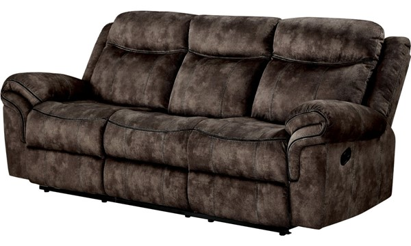 Acme Furniture Zubaida Chocolate Velvet Sofa with USB Dock and Console ACM-55020