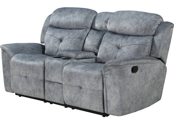 Acme Furniture Mariana Silver Gray Loveseats with Console ACM-5503-LS-VAR