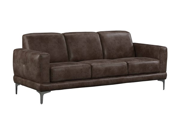 Acme Furniture Reagan Two Tone Brown Microfiber Metal Sofas ACM-5508-SF-VAR