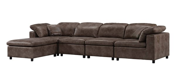Acme Furniture Audrey Two Tone Brown Microfiber Sectional ACM-5510-SEC2