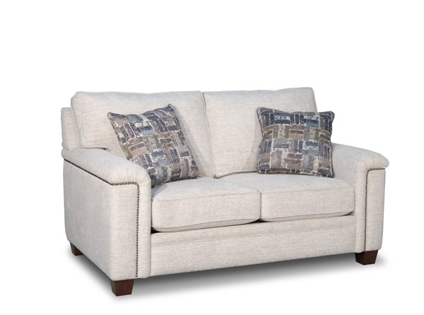 Acme Furniture Kalista White Fabric Loveseat with Pillows ACM-55141