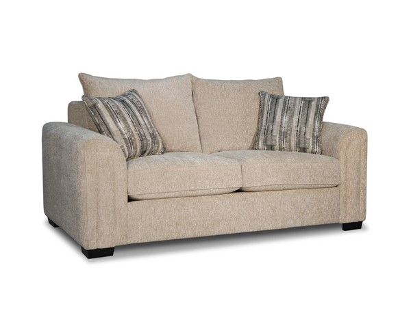 Acme Furniture Kanika Beige Fabric Loveseat with Pillows ACM-55151