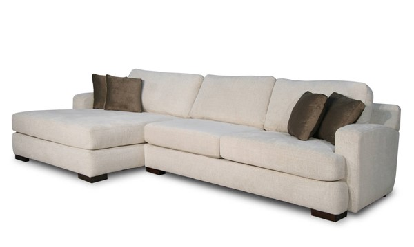 Acme Furniture Kevina Neutral Fabric LAF Sectional Sofa with Pillows ACM-55175