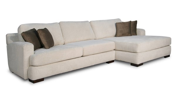 Acme Furniture Kevina Neutral Fabric RAF Sectional Sofa with Pillows ACM-55195