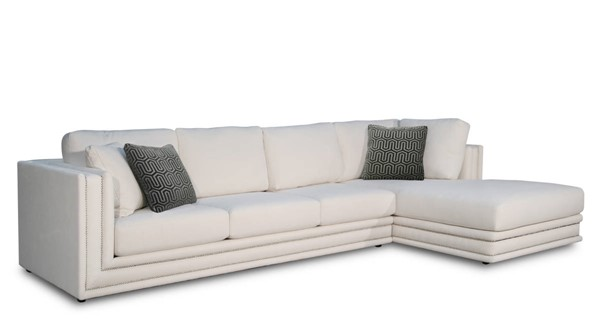 Acme Furniture Katell Neutral Fabric Sectional Sofa with Pillows ACM-55200