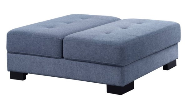 Acme Furniture Qiana Dusty Blue Storage Ottoman ACM-55237