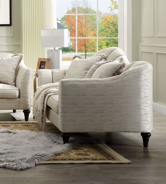 Acme Furniture Athalia Shimmering Pearl Three Pillows Loveseat ACM-55306
