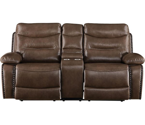 Acme Furniture Aashi Brown Motion Console Loveseat ACM-55421