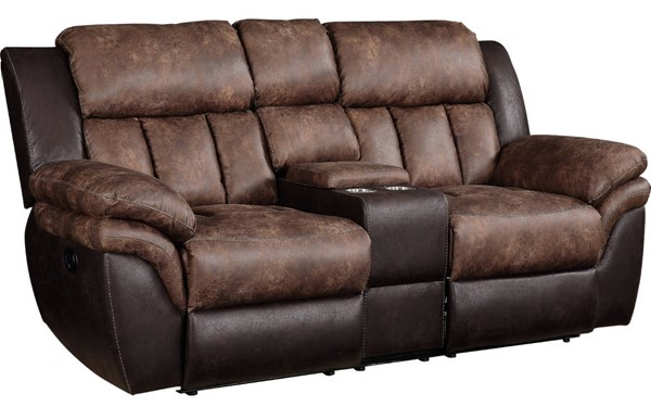 Acme Furniture Jaylen Toffee Espresso Loveseat with Console ACM-55426