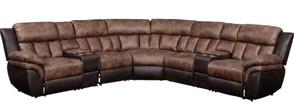 Acme Furniture Jaylen Toffee Espresso Sectional ACM-55430