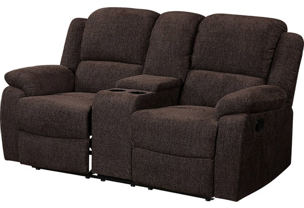 Acme Furniture Madden Brown Loveseat with Console ACM-55446